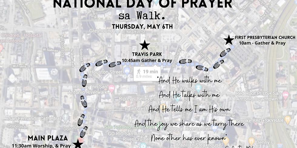 sa Walk. on National Day of Prayer