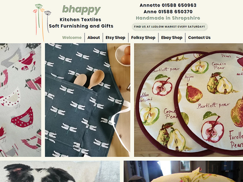Debbie is brilliant to work with. Efficient, knowledgable and very helpful. We love our new website and we will be recommeding her to everyone and anyone. Thank you very much Debbie.  Annette & Ann - Bhappy Kitchen Textiles