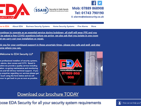 FANTASTIC! Debbie created a really easy to navigate web site. Looks great and all done within time scale. Debbie is very professional and provided me with exactly the web site I wanted.   Ian James - EDA Security LLP