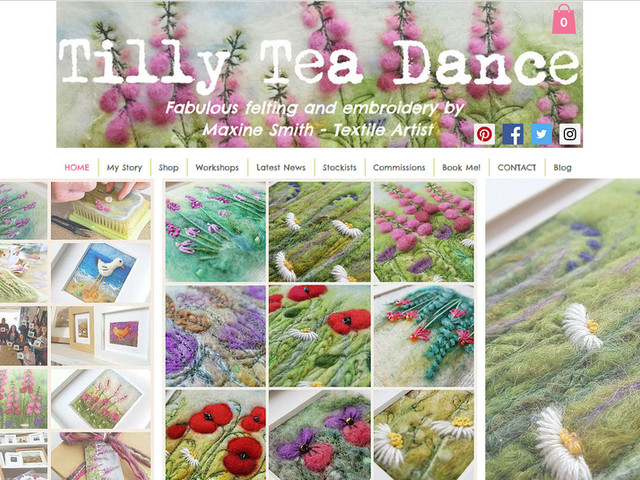 Working with girl friday was fab! Debbie really listened to what I needed, communicated well and involved me in every stage of the design. I would highly recommend Debbie.  Maxine Smith - Tilly Tea Dance - Textile Artist