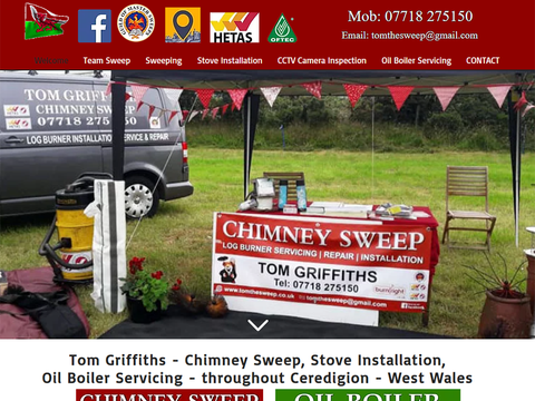 Debbie has always supported our small business. We are very happy with the web site she has created for us. Highly recommended, thanks for your continued assistance.  Tom Griffiths - Ceredigion Chimney Sweep - West Wales