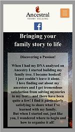 Ancestral Storytelling - web design by girl friday web design