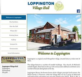 Loppington Village Hall - Web Design by Girl Friday Web Design