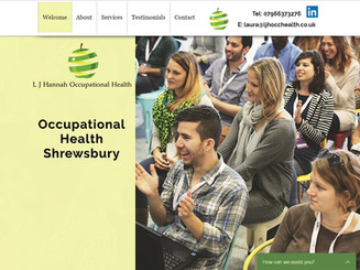 I contacted Debbie for her web design services and I am thrilled with the result of my web site. Debbie's professional step by step approach also helped me in gaining a much better understanding of how I can use my web site to grow my business. I couldn't recommend her services enough; from start to finish the journey has been a rewarding one.   Laura Hannah - Occupational Health - Shrewsbury