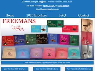 Debbie improved my previous tired site with a prompt and efficient understanding of what was required for my business.  John Hawkins - Hawkins Hamper Supplies UK