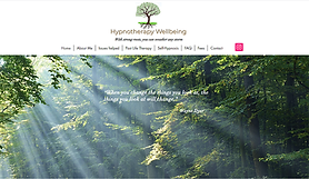 Hypnotherapy Wellbeing - web site designed by girl friday web design