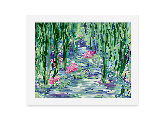 """""""Water Lily"""" 00.1 Framed Poster"""