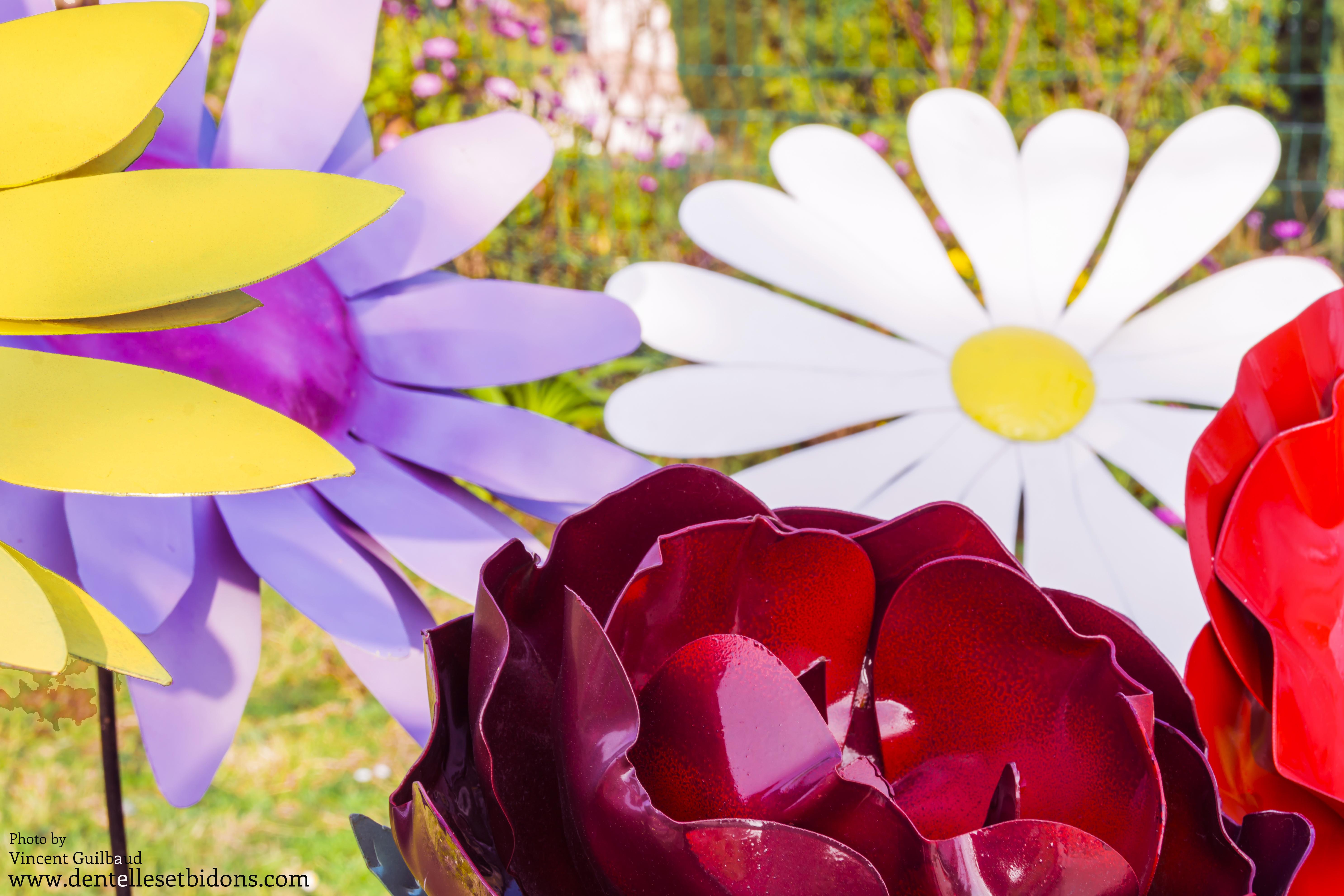 sculpture fleur design décoration