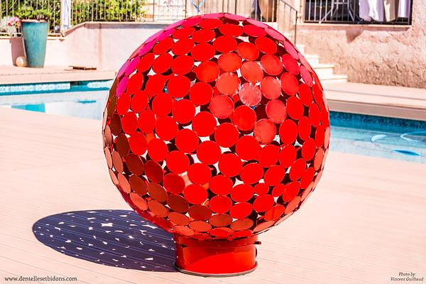 sculpture sphère design décoration