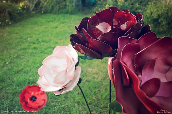 sculpture flower design decoration