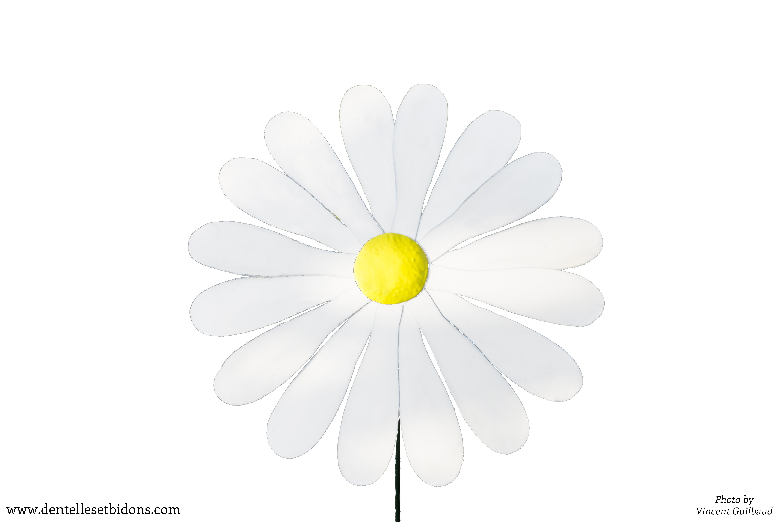 sculpture fleur deMarguerite_détouée