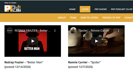 Ronnie Carrier PRP Sessions Screen Shot.png