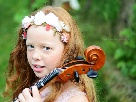 Beautiful girl with cello