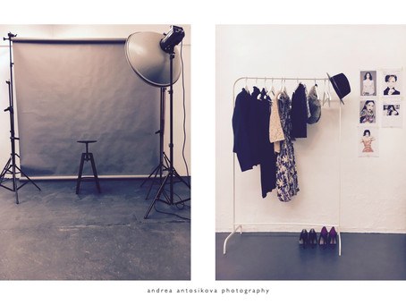 Studio photo session set up
