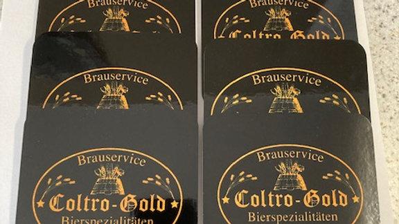 6 Stück Coltro Gold Untersetzer