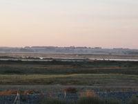 A l'aube, les marais de la réserve naturelle du Hâble d'Ault au sud de la Baie de Somme