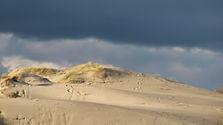Les dunes sur la Route Blanche au Hourdel en Baie de Somme