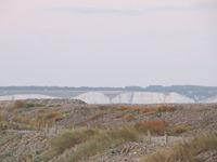Les falaises et les galets font partie des beaux paysages de la réserve naturelle du Hâble d'Ault au sud de la Baie de Somme