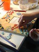 Stage de déco en mosaïque à l'atelier de mosaïque & nature à Abbeville aux portes de la Baie de Somme. Objet déco en émaux de Briare