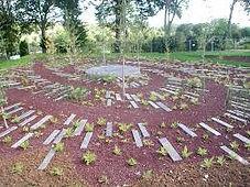 Le jardin créé par Gille Clément au jardin de Valloires, labellisé jardin remarquable, à Argoules en Picardie, à proximité de la Baie d'Authie