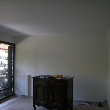 Chantier peinture traditionnelle en isère