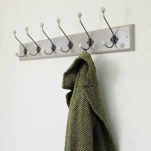 Traditional Vintage Painted Wooden Coat Rack