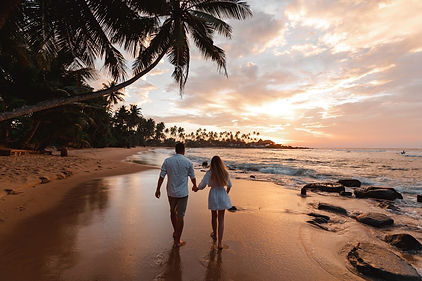 Happy romantic just married travel  coup