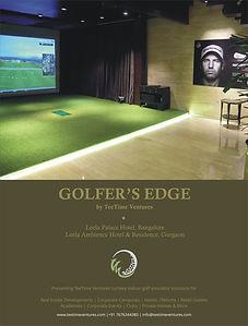 Golfer's Edge Gurugram India virtual indoor golf simulator