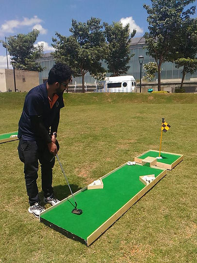 mini golf - corporate event