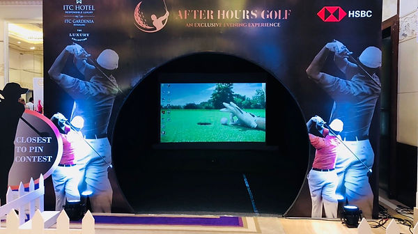 virtual golf event at hotel