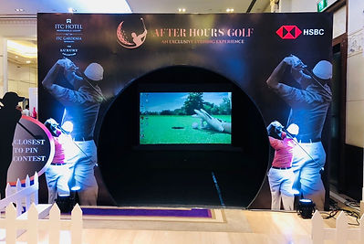 virtual golf celebrating After Hours Event