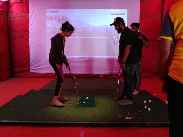 golf simulator - corporate event