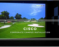Virtual Golf Cisco Corporate Campus India