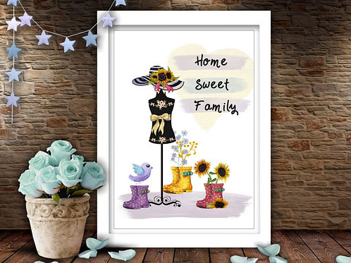Home Sweet Family Printable Artwork