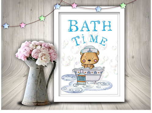 Bath Time Printable Wall Art