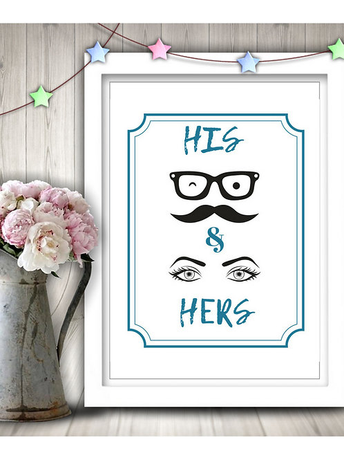 His And Hers Printable!