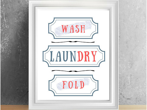 Laundry Room Printable !