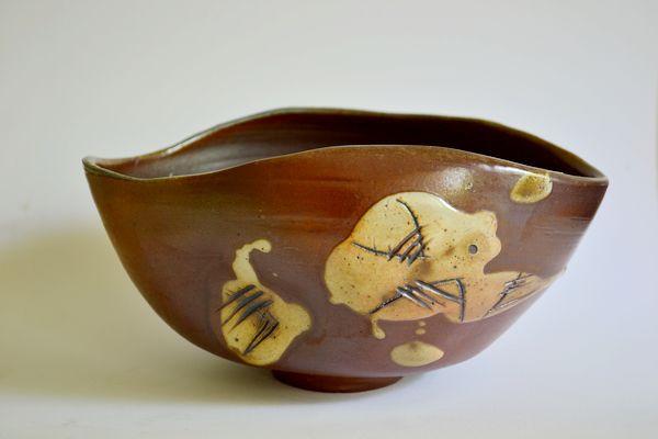 Bowl with Slip Decoration