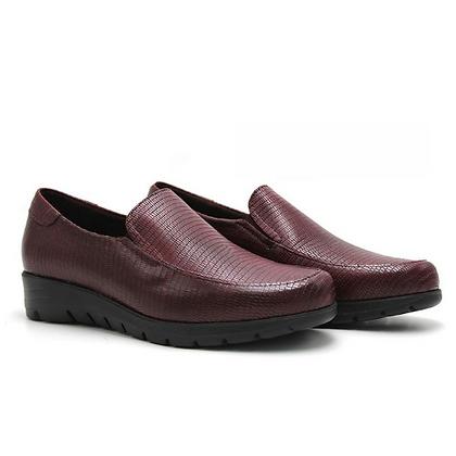 Zapato señora textura burdeos