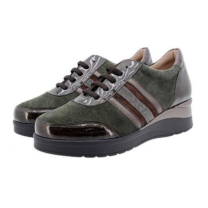 Zapato cordón verde