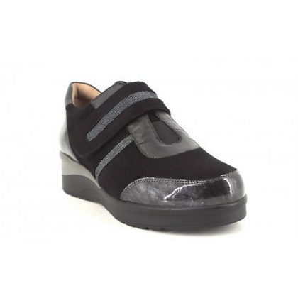 Zapato velcro negro