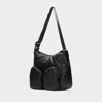 Bolso negro tipo shopping bag