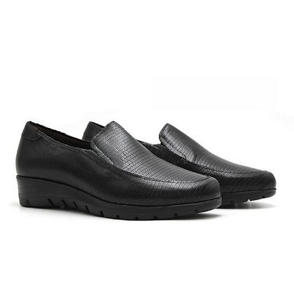Zapato señora textura negro
