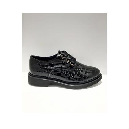 Zapato grabado negro