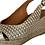 Thumbnail: Alpargata cuña yute esparto salon peep toes metalica