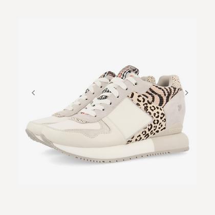 Sneakers con animal print, vichy y flores para mujer overland