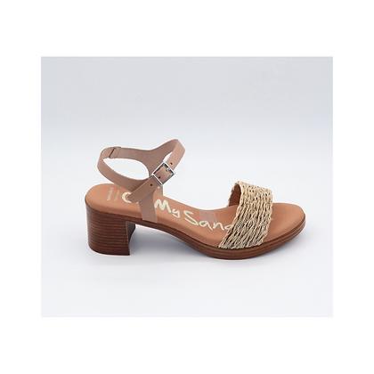 Sandalia piel nude