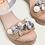 Thumbnail: Sandalia cuñas abalorios