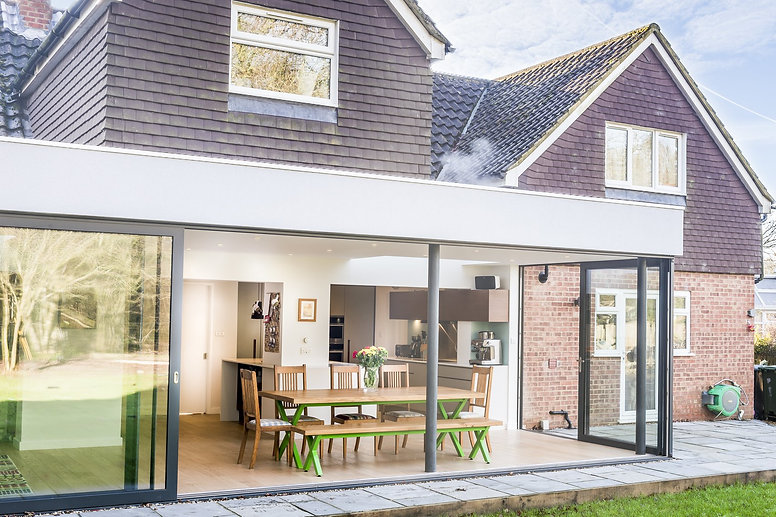 double-glazing bifolding doors rear house extension in Enfield, E4