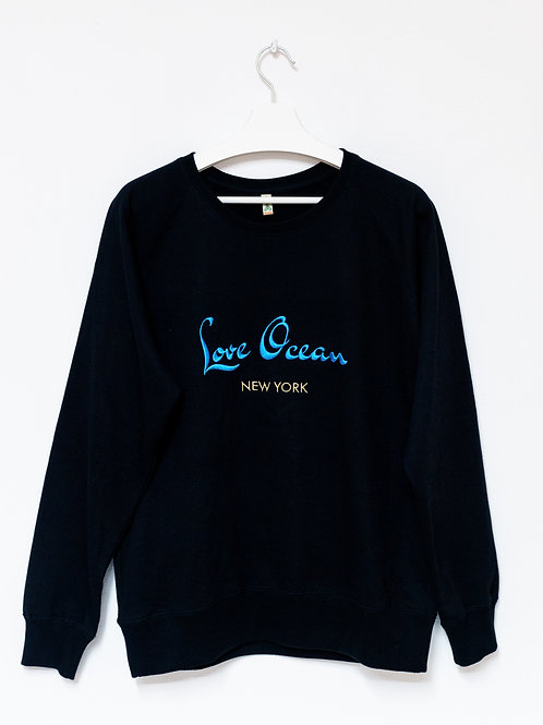 LOVE OCEAN 100% recycled Sweatshirt UNISEX